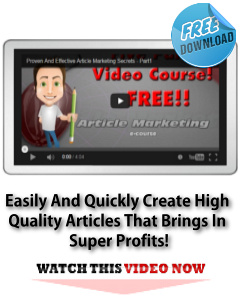 Article Marketing Secrets - Free Video Download